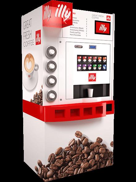 Les machines à café Illy Coffee Tower Pelican Rouge