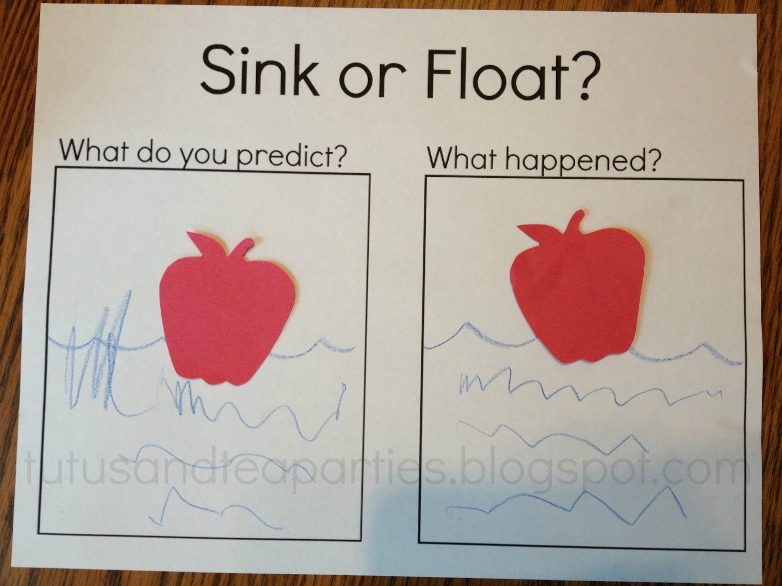 Fall Apples Sink Or Float With Free Printable Preschool Apple Theme Apple Preschool Apple Lesson Plans