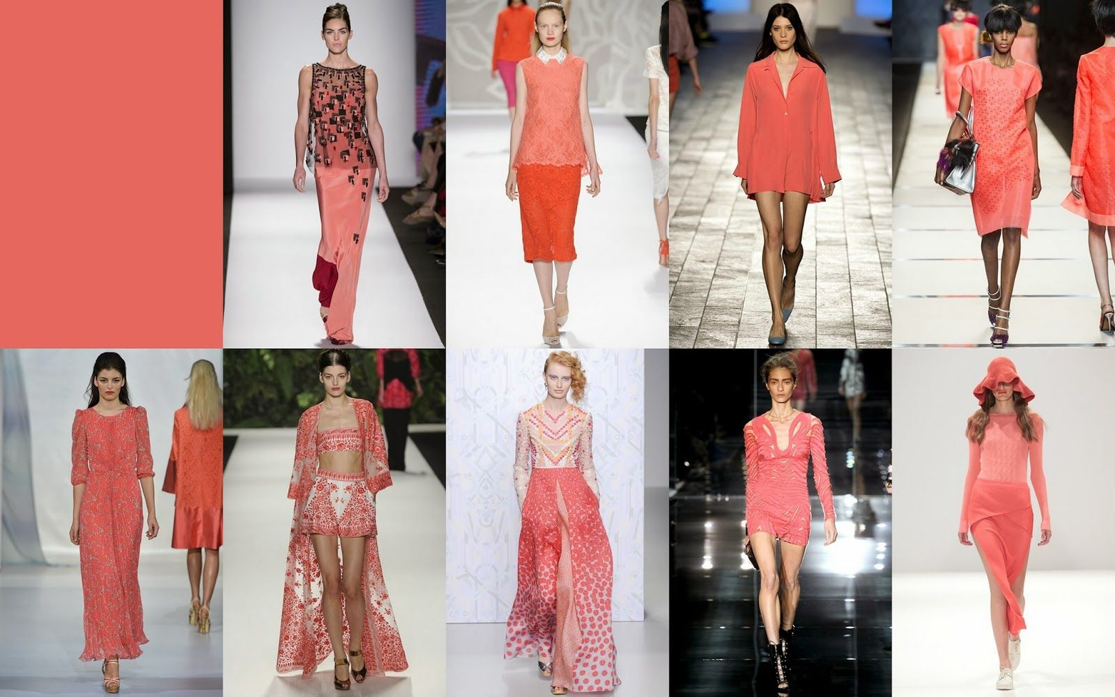 Cayenne Fashion Color Report #Spring2014 @PANTONE COLOR  in #runways #LFW #MFW #NYFW