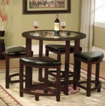 Solid Wood Glass Top Dining Table W 4 Chairs Glass Top Dining Table Dining Room Sets Round Dining Set