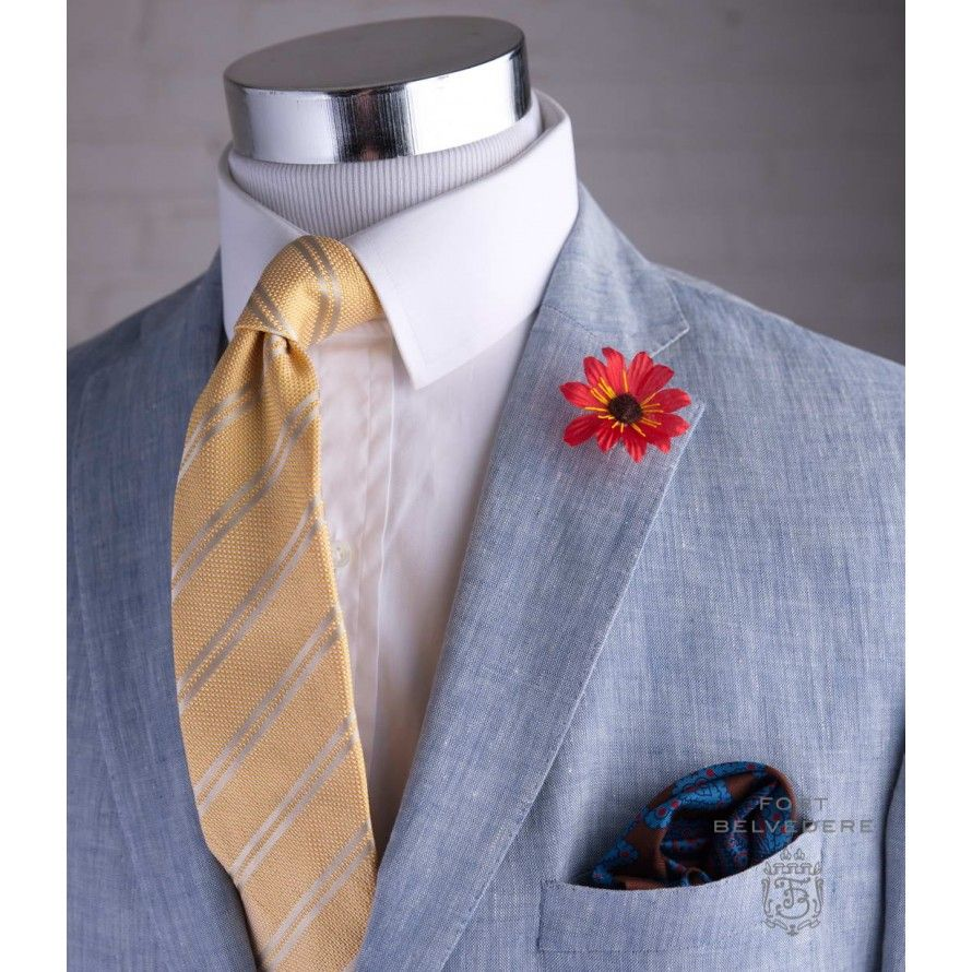 http://cdns.gentlemansgazette.com/shop/media/catalog/product/cache/1/image/890x890/9df78eab33525d08d6e5fb8d27136e95/r/e/red_exotic_boutonniere_with_brown_center_linen_sport_coat_in_light_blue_yellow_striped_tie_and_madder_pocket_square_by_fort_belvedere.jpg