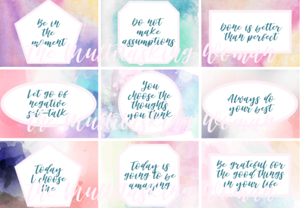 Affirmation Card Templates 3 Templates Example Templates Example Positive Affirmation Cards Affirmation Cards Affirmations