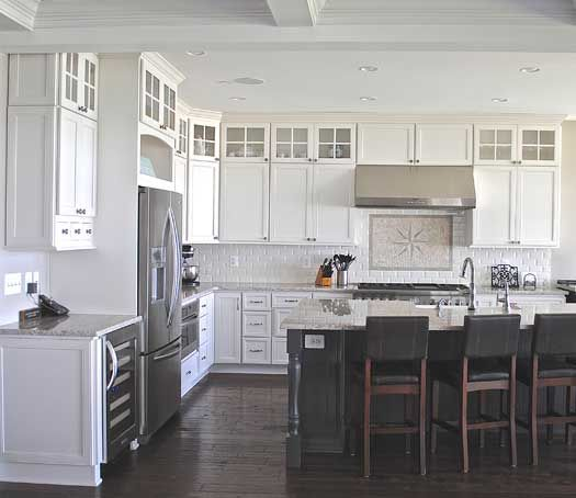 Kitchen Cabinets Md: New Construction Kitchen With Island In Arnold, MD