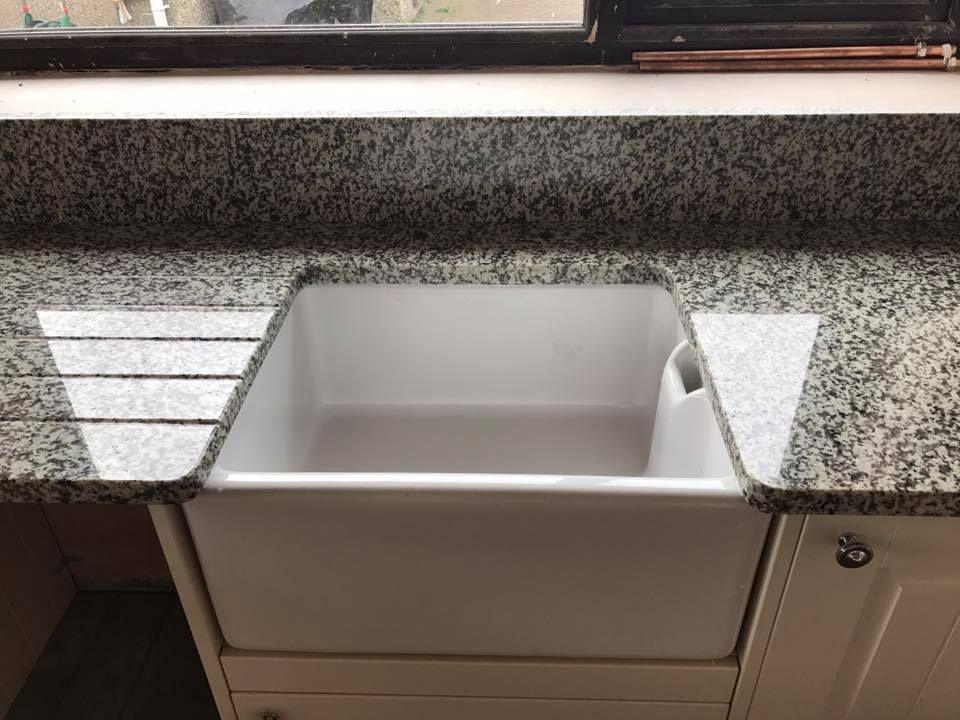 Nevada Granite Worktop With Belfast Sink Belfast Sink With Granite Belfast Sink Granite Worktops