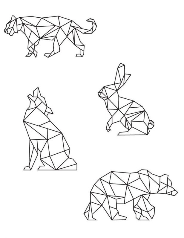 Best Polygon Animal Coloring Page