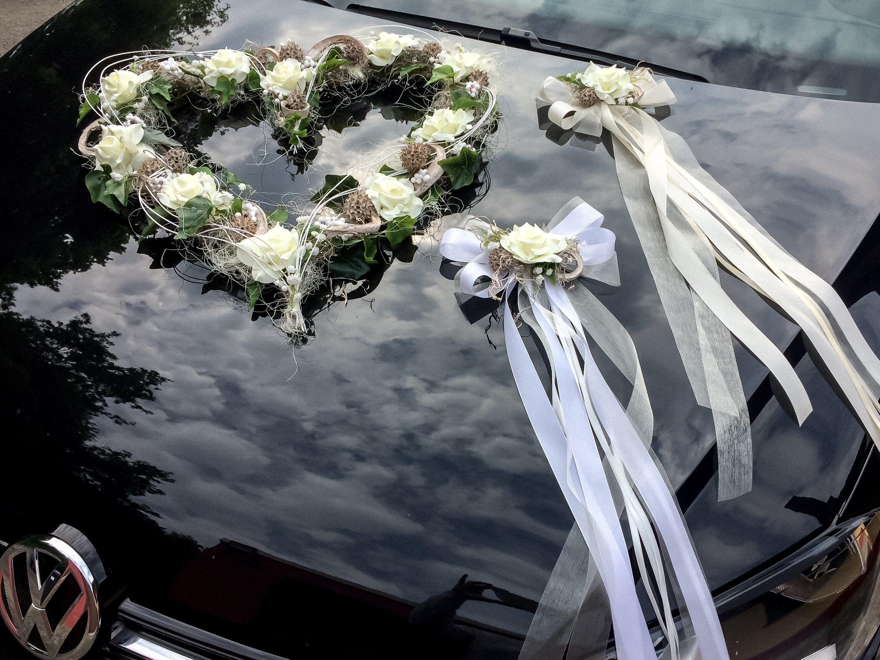Autoschmuck Set 3 Teilig Herz Und Schleifen Autodekoration Etsy Auto Dekoration Autoschmuck Hochzeit Hochzeitskutsche