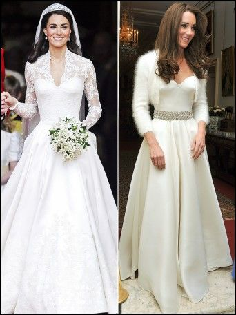 Kate Middleton Wedding Evening Dress