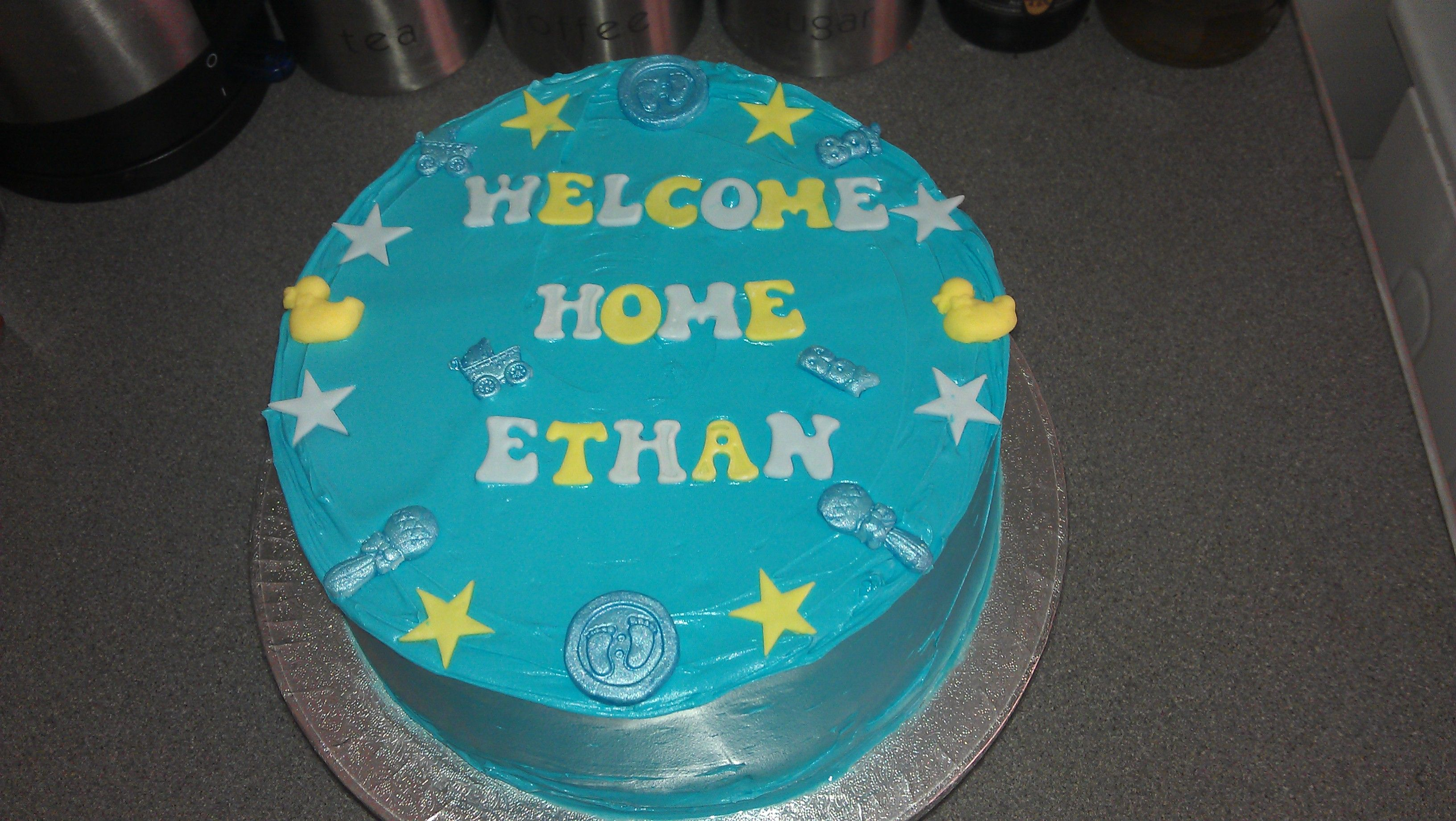 Welcome Home Cake Baby Boy