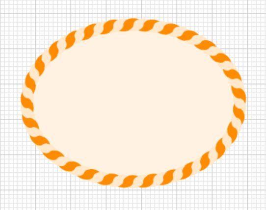 イラストレーターで縄のイラストの描き方縄のイラストを書いてブラシの