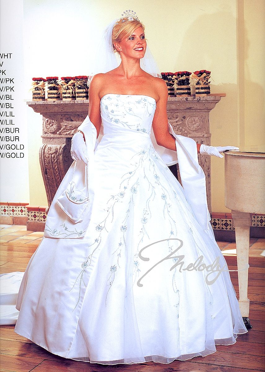 Wedding Gowns w/Detachable Train 6606 (Click picture for more ...