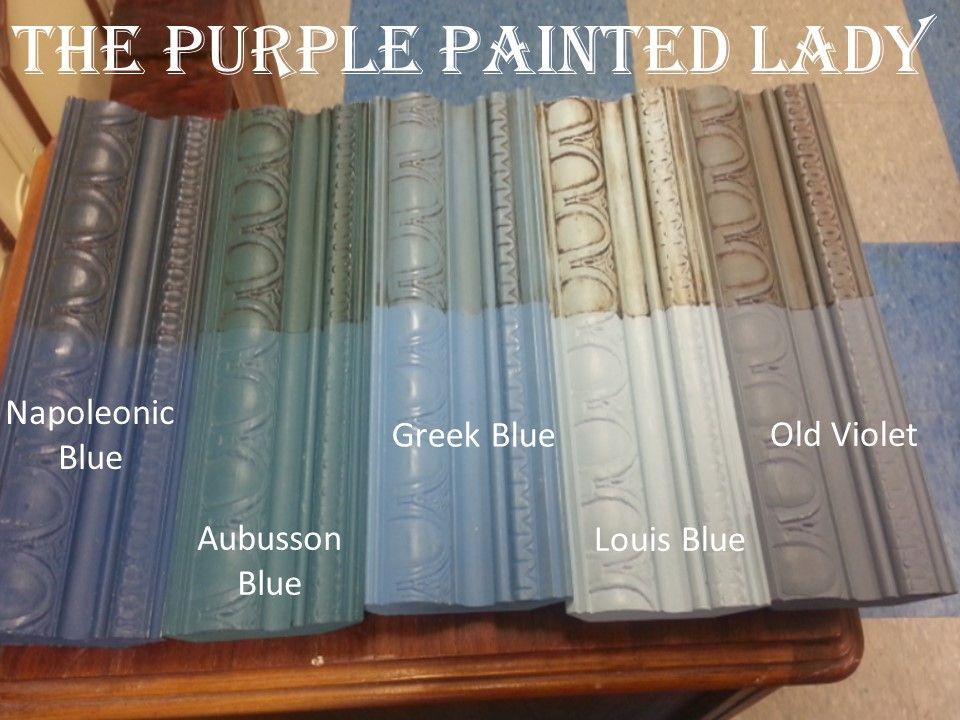 Blue the purple painted lady comparison landscape for Chalk paint comparable to annie sloan