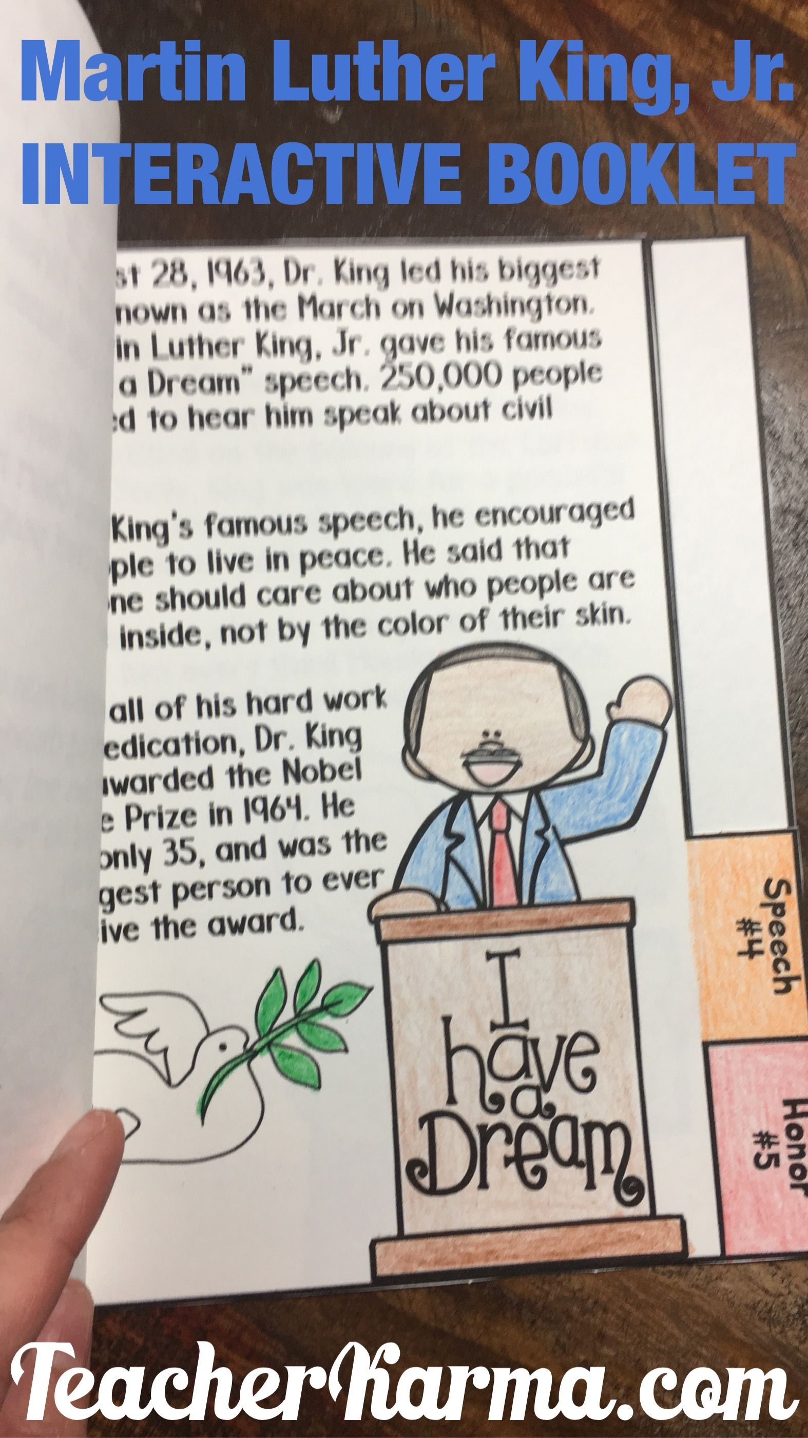 Martin Luther King Jr Booklets And Learning Kit Mlk
