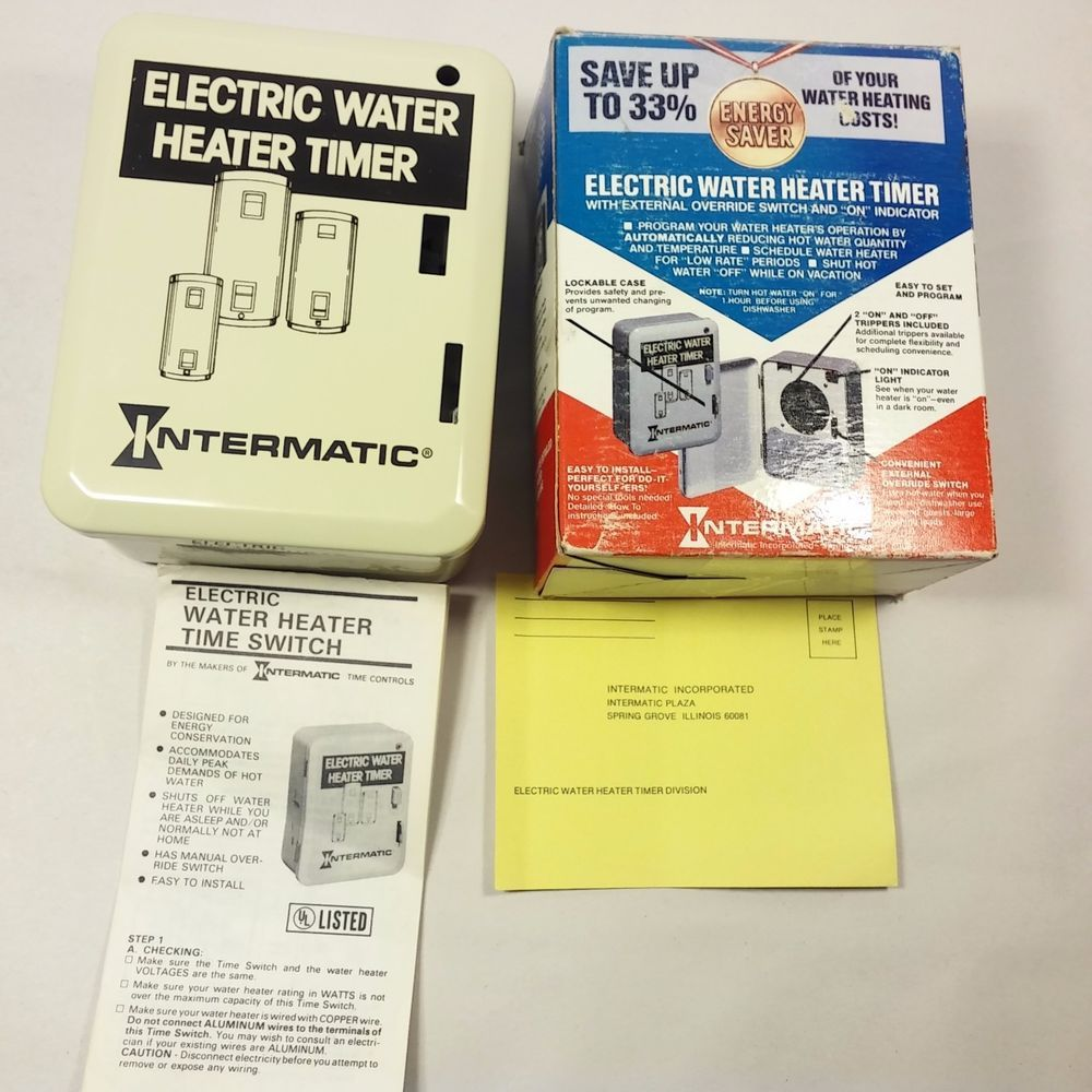 NEW Intermatic WH21 Programmable Electric Water Heater Timer 25A 250V USA  MADE! #Intermatic