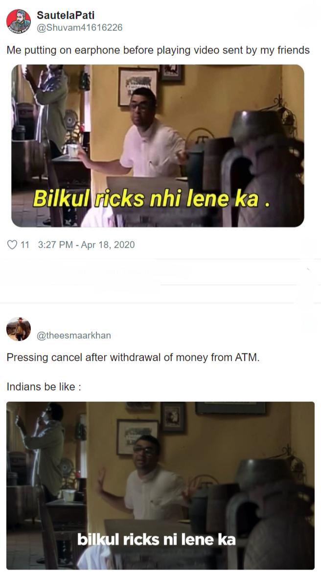 Here Pheri Dialog Bilkul Ricks Nahi Lene Ka Returns With Memes