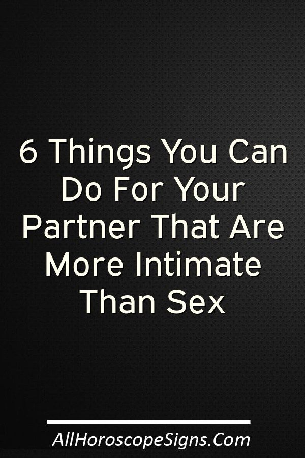 Thing other than sex