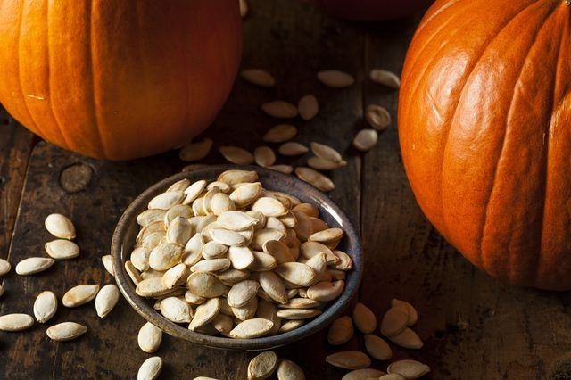 9 Quick and Easy Roasted Pumpkin Seed Recipes #pumpkinseeds So you've finished carving your pumpkin and moved on to marveling at your masterpiece. But wait: Don't toss out those pumpkin seeds! Packed with nutritional value, they make the perfect fall snack. #roastedpumpkinseedsrecipe