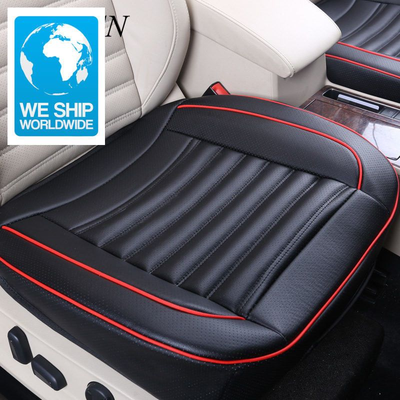 Universal Car Cowhide Front Cushions Side Around Seat Protector Leather Sear