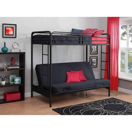 DHP Twin-Over-Futon Metal Bunk Bed, Multiple Colors | New Apartment ...