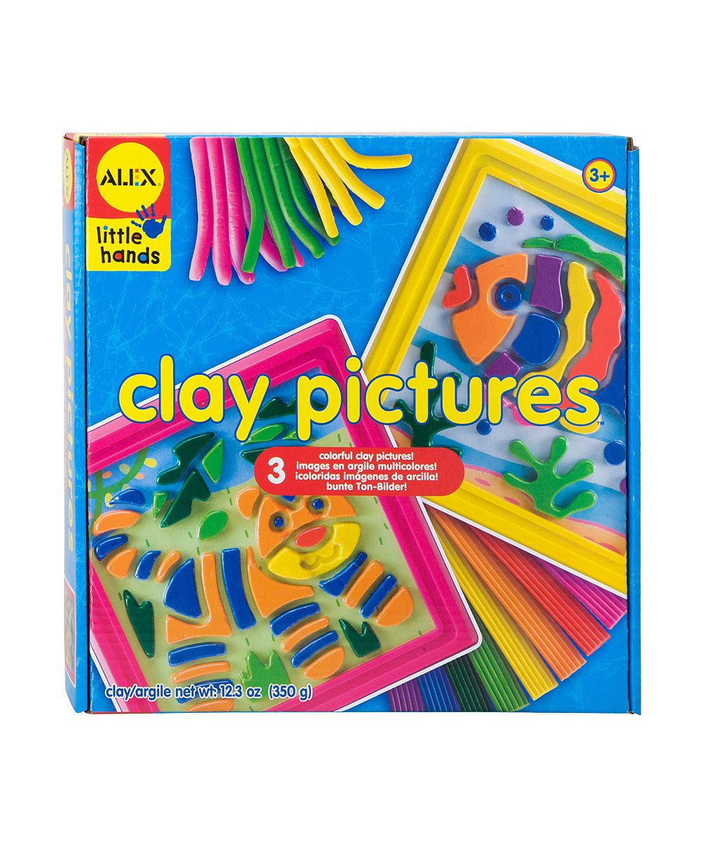 Alex Clay Picture Kit Out Of Crayons Color With Clay From This Craft Kit Simply Push Smush And Rub The Colorful Clay T Learn Crafts Diy For Kids Craft Kits