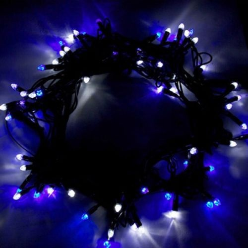 120 Blue And White Bi-Colour LED Changing Outdoor String Light -20