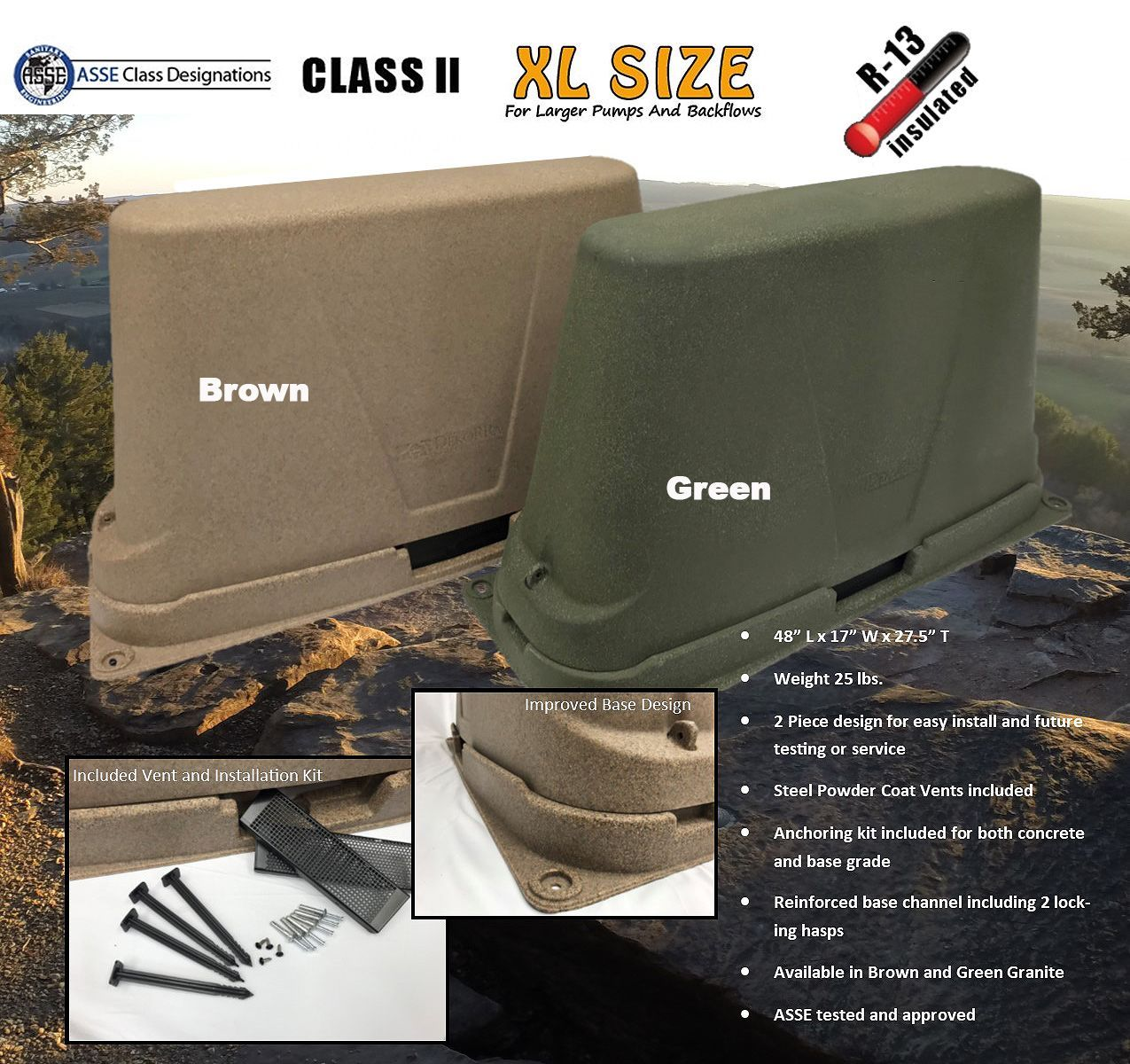 The New And Improved Dekorra Model 302c2 Xl Insulated Backflow Cover Protection Enclosures Are Asse Class 2 Certifi Insulated Well Pressure Tank Pressure Tanks