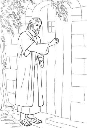 Jesus knocking at the door coloring page sketches and drawings jesus knocking at the door coloring page altavistaventures Gallery
