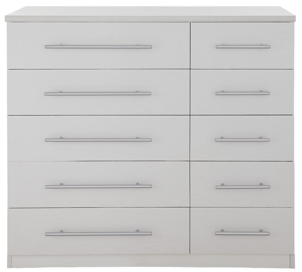 Prague Bedroom Furniture Set Prague 5 5 Chest Of Drawers Dressing Table Ash White Effect