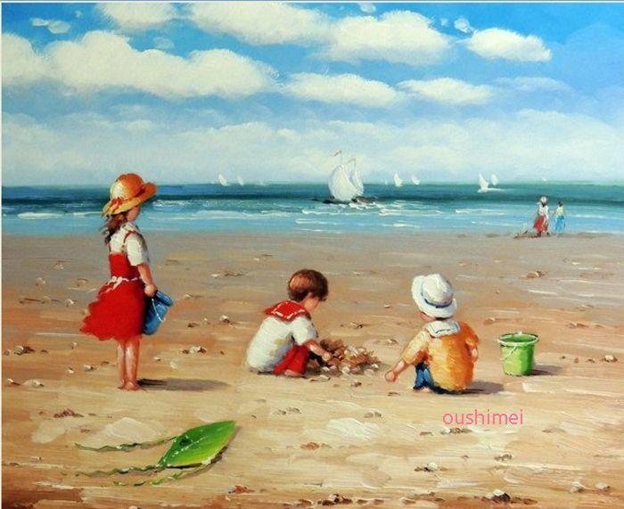 Achetez En Gros Enfants Jouant Peintures Plage En Ligne A Des Grossistes Enfants Jouant Peintures Plage Chinois A Peintures De Plage Comment Peindre Peinture