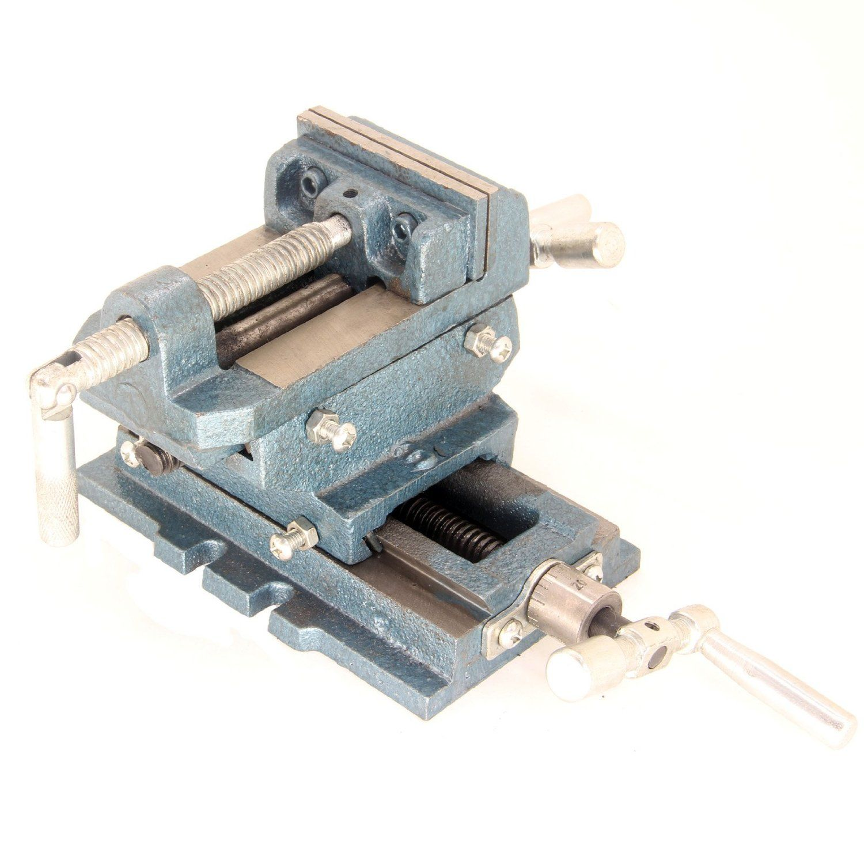 "5/"" Cross Drill Press Vise Slide Metal Milling 2 Way X-Y Clamp Machine Heavy Duty"