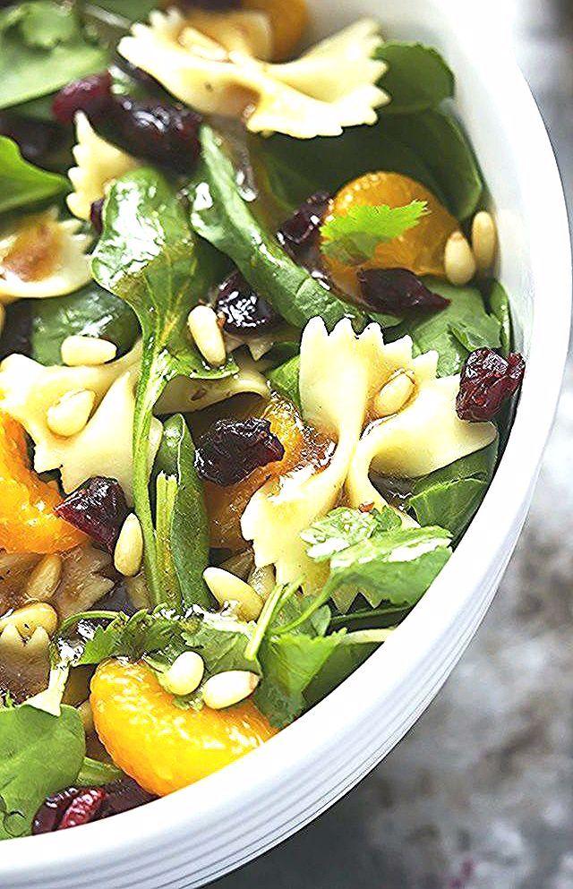 Mandarin Pasta Spinach Salad with Teriyaki Dressing - Creme De La Crumb - Master... - #creme #crumb #de #dressing #la #mandarin #master #pasta #salad #spinach #teriyaki