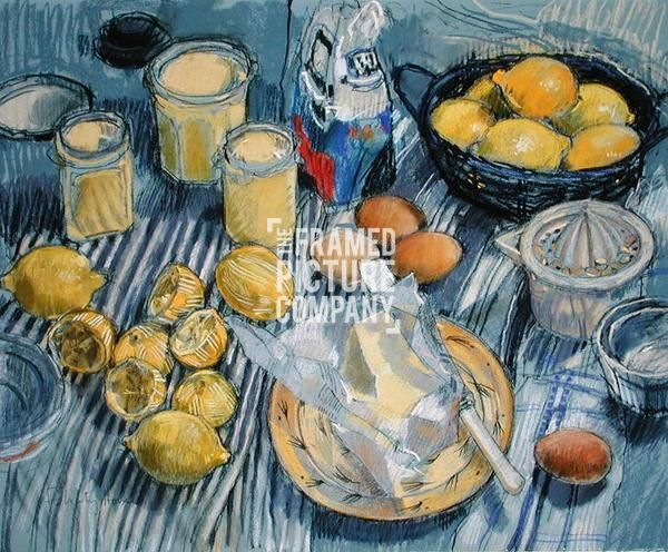 Lemon Curd (pastel on paper) by Felicity House from The Framed ...