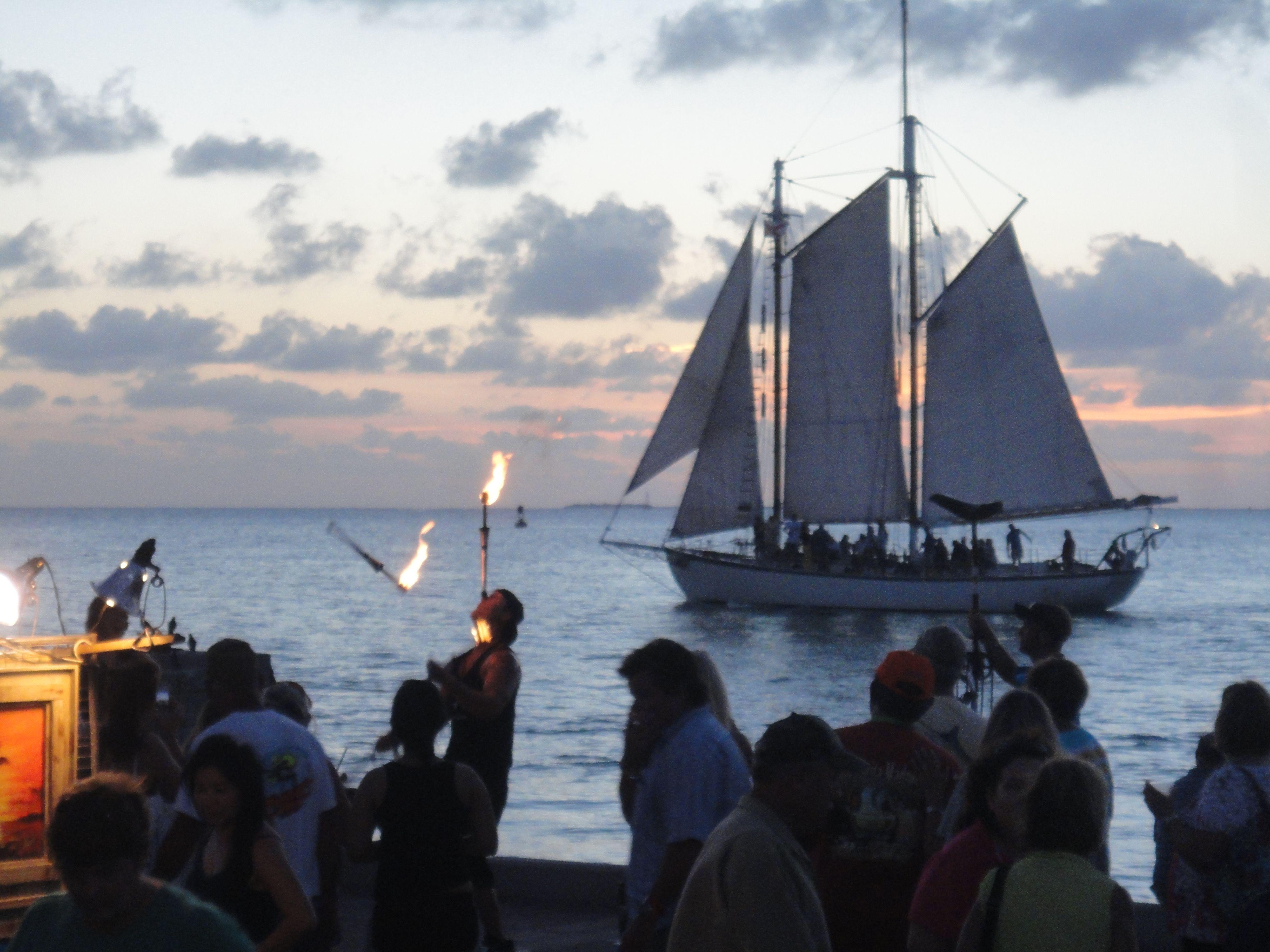 Sunset celebration at Mallory Square, Key West.