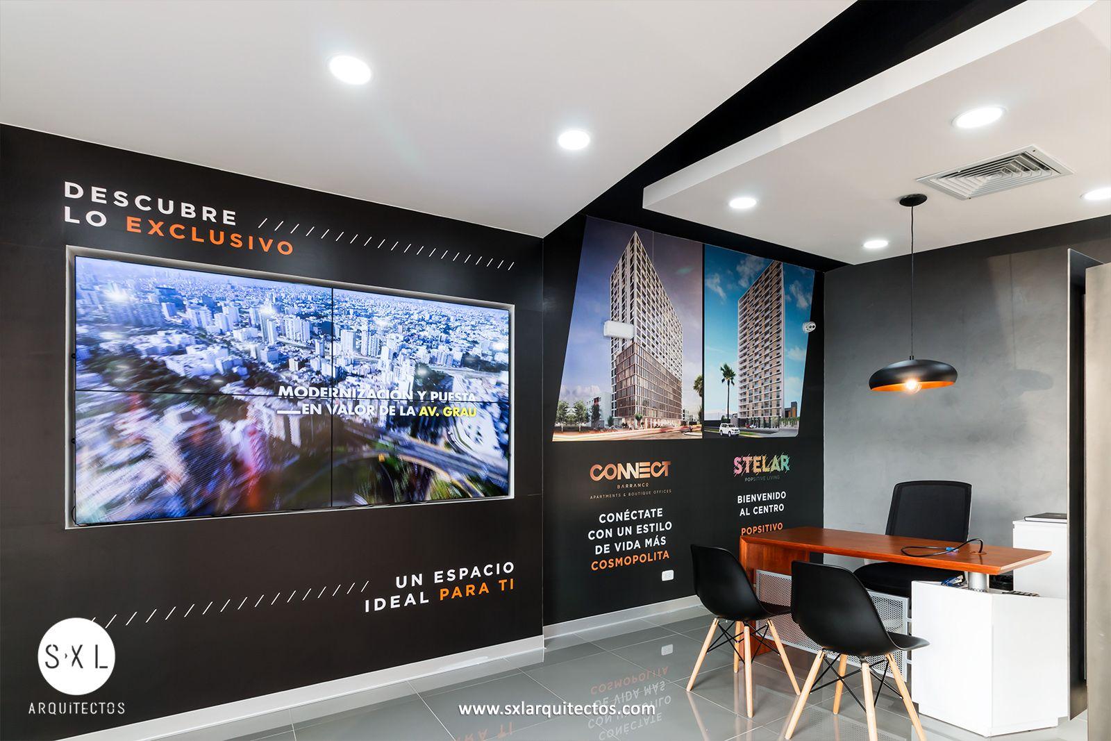 Dise o interior de sala de ventas para promoci n for Diseno de interiores lima