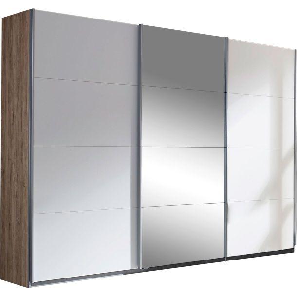 Schwebeturenschrank Eiche San Remo Weiss Home Furniture Furniture Room Divider