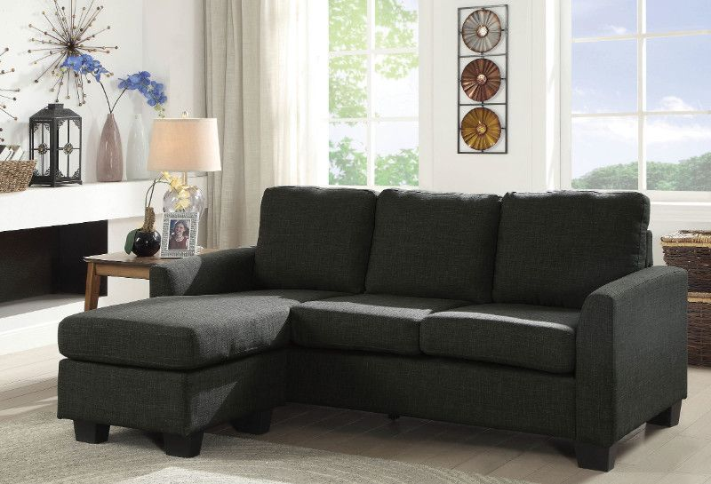 Brilliant Cm6593Gy 2 Pc Erin Dark Gray Fabric Sectional Sofa With Squirreltailoven Fun Painted Chair Ideas Images Squirreltailovenorg