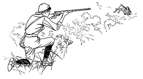Shoot At Rabbit Hunting Coloring Pages Coloring Sky Coloring Pages Bear Coloring Pages Rabbit Hunting