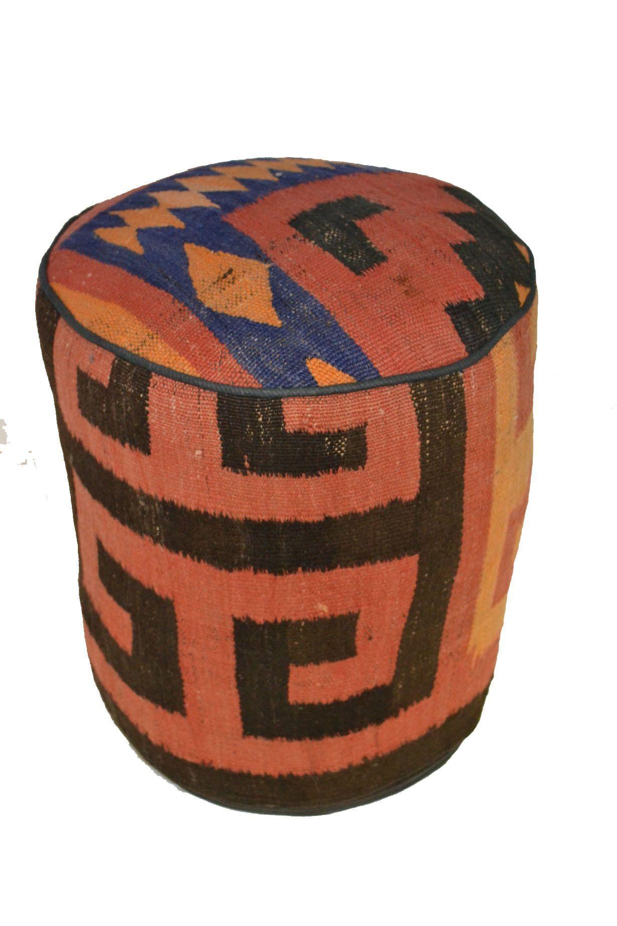 Rug Pouf / Rug Sitting Stool / Rug Ottoman / Kilim Sitting Stool / Stools # 45