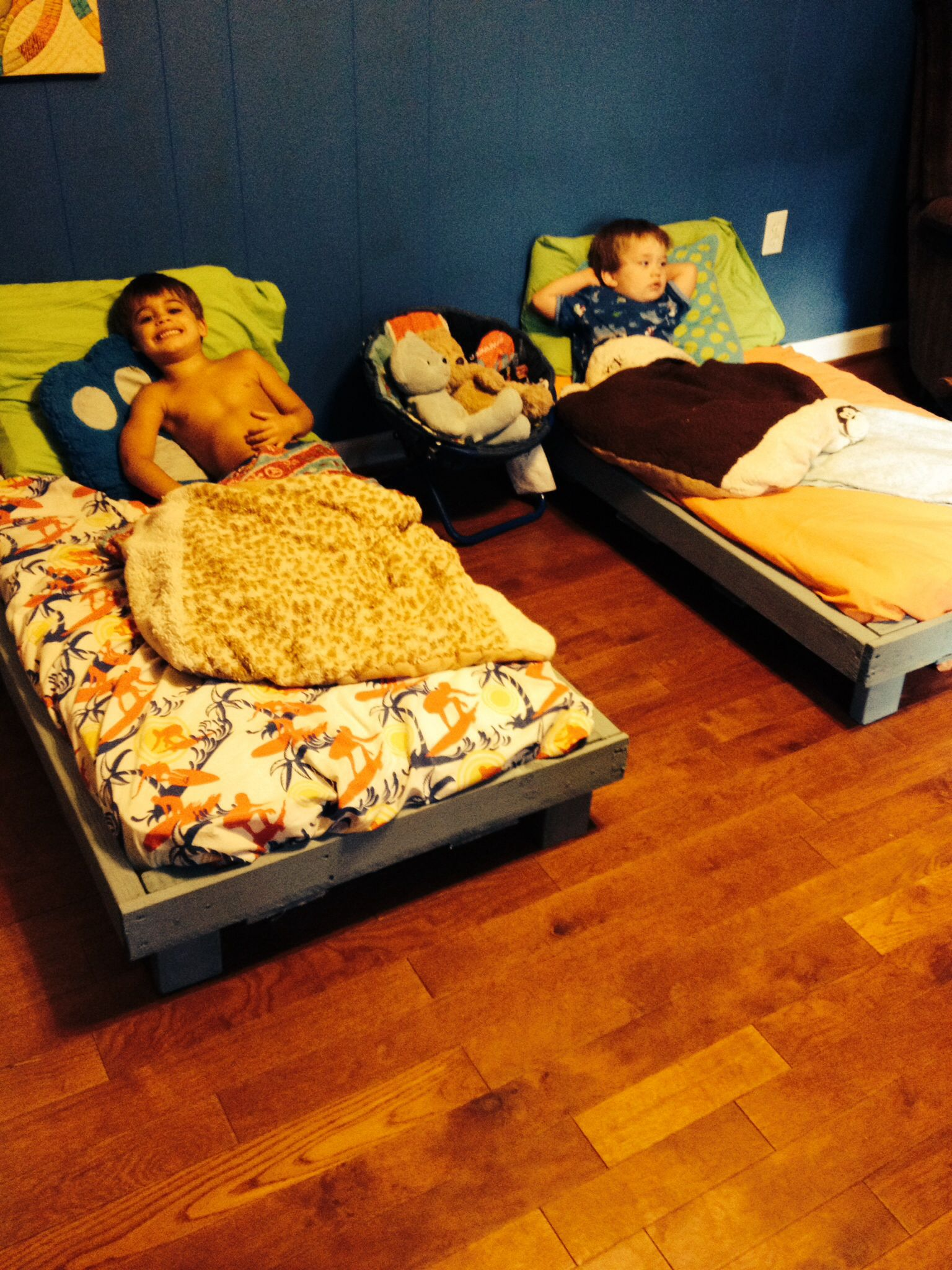 Built My Kids Their Own Toddler Beds Out Of Pallets