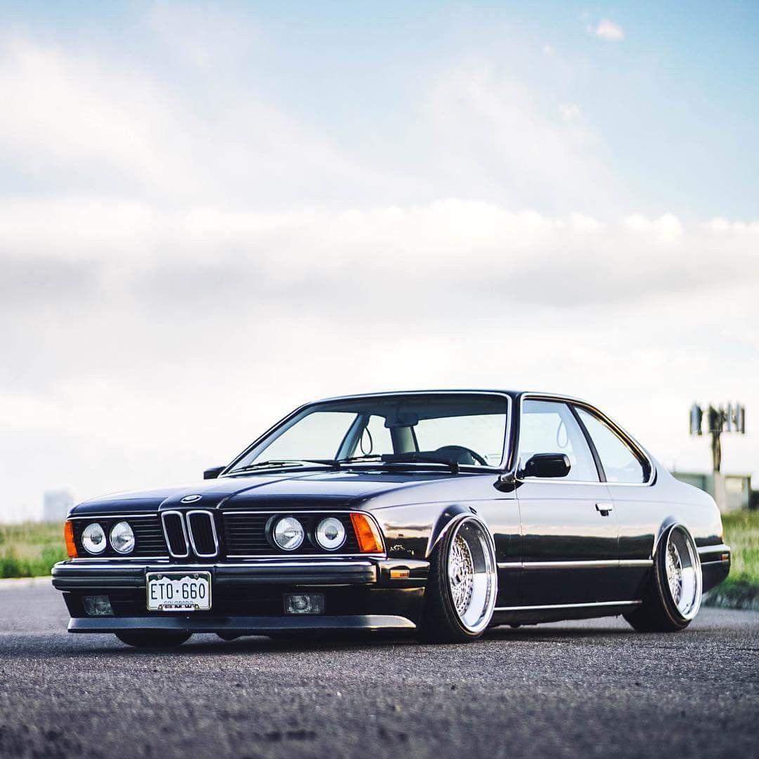BMW E24 6 series black slammed   Bmw, Bmw e24, Bmw old