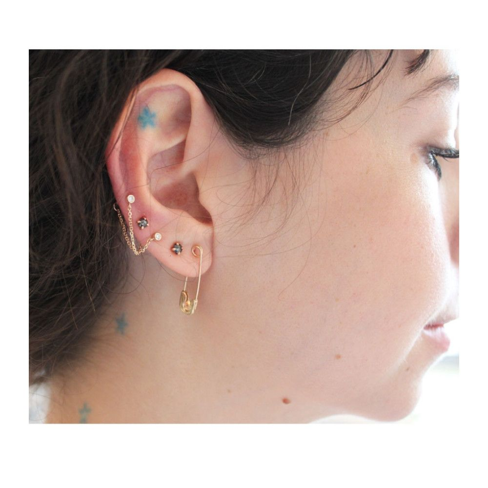 cb3ed0ec3 Coquette Ear Hugger, yellow gold - All products - Catbird | wishlist |  Earrings, Jewellery, Gold