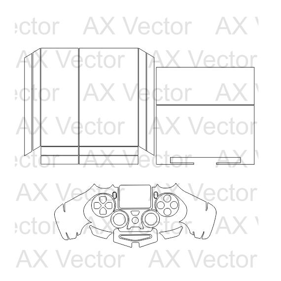 ps4 console controller vector template pinterest ps4 controller