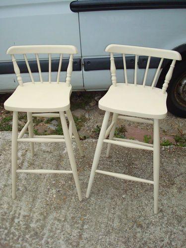 Groovy Shabby Chic Bar Stools X 2 Ebay Bar Stools Shabby Chic Machost Co Dining Chair Design Ideas Machostcouk