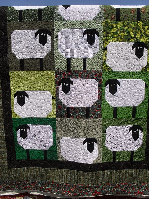 5942082b55bd Would have loved this when the kids were in 4-H! Sheep quilt..Sometimes you  just need to have fun with a quilt.