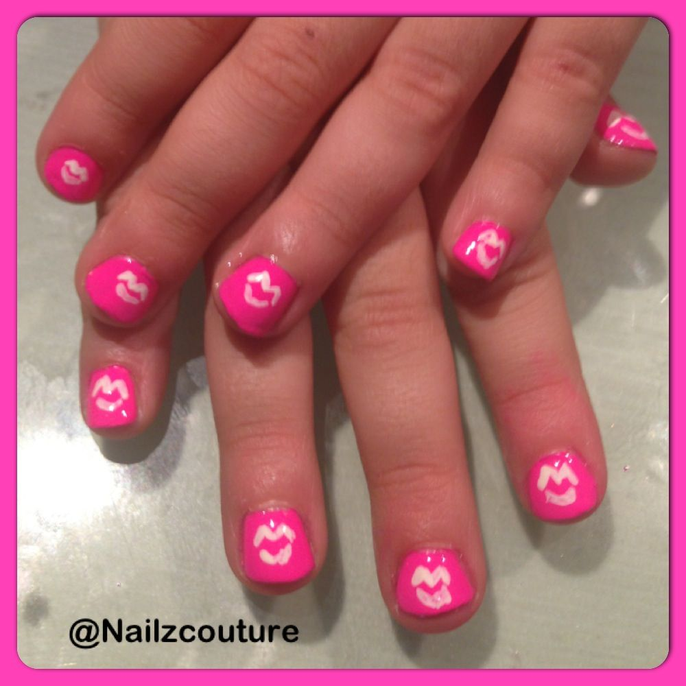 Neon kids nails   My nail art all hand painted   Pinterest   Kid ...