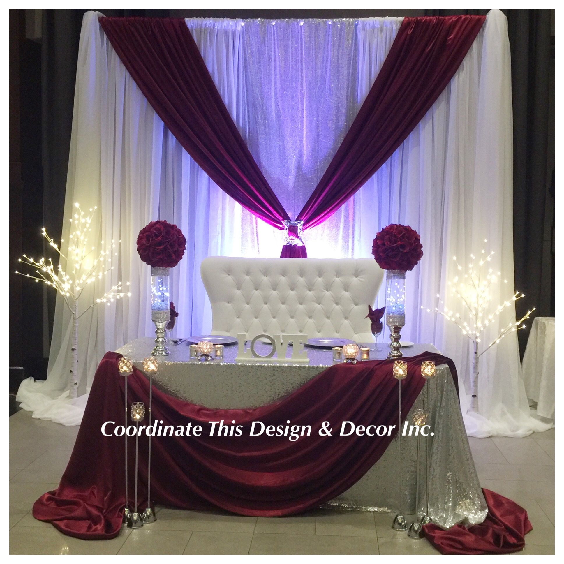 Customs backdrop Masala, silver & white | Silver wedding decorations, Gold  table decor, Backdrops for parties