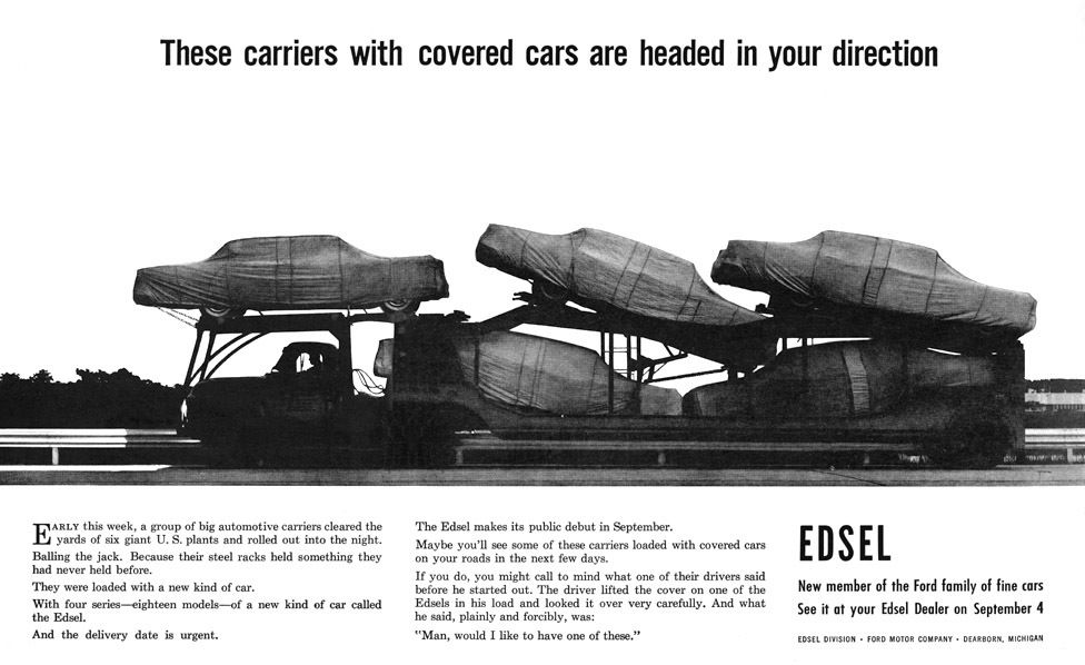 Image result for the edsel began sales to the public