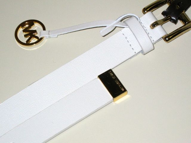 Brand New Partner Auction! Thursday starting at 4 PM Pacific! Come set Reminders for the Items that you love! $25 MAXIMUM Start Bids!   http://tophatter.com/auctions/46871-on-trend-bags-and-more  'BNWT Michael Kors White Saffiano Leather Skinny Belt XL' is going up for auction on Tophatter.