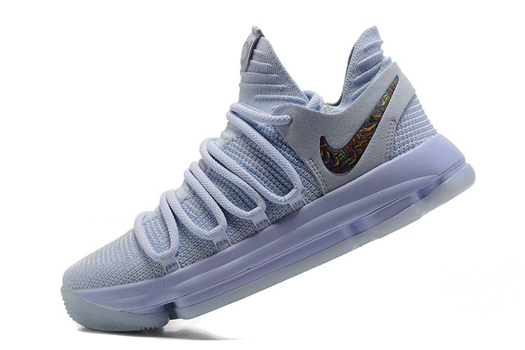 "fec8a16ebcb9 Nike KD 10 ""Anniversary"" Faint Blue Multi Men s Size 897817-900 ..."