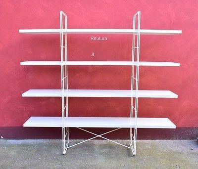Ikea Scaffali Di Metallo.Dettagli Su Scaffali Piccola Libreria Ikea Enetri White Metallo