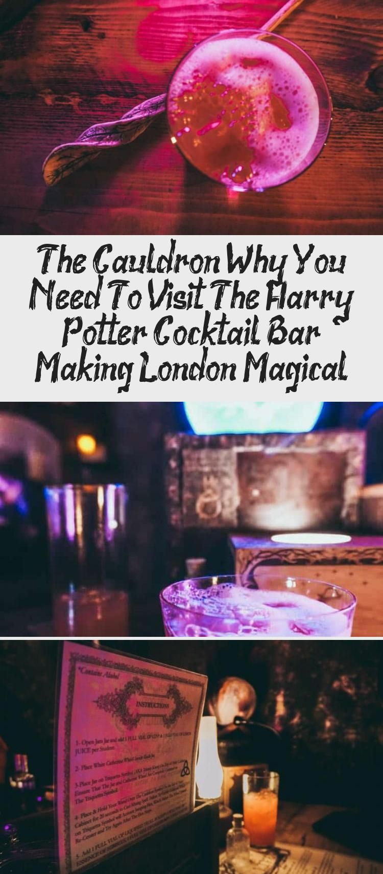 Do You Love Harry Potter You Simply Have To Visit The Cauldron London S Harry Potter Themed Cocktail Bar It S Harry Potter Cocktails Cocktail Bar Cocktails
